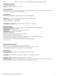 Doctor Resume Template Hetero Co