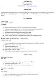 Grad School Resume Sample Classy 48 High School Resume Template Free Download