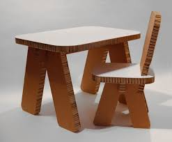 cardboard furniture design for table and chair