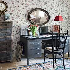 home office design quirky. How To Create This Quirky Cottage-style Home Office, Where Earthy Florals, Wood Office Design N