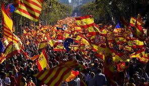 Image result for تظاهرات 750 هزار نفری کاتالانها در خیابانهای بارسلون