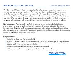 Commercial Real Estate Loan Officer Job Opening