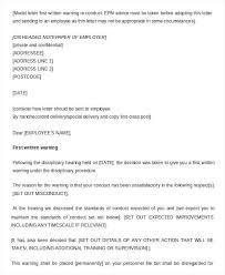 Verbal Warning Sample 13 Written Warning Template 392411993961 Written Warning