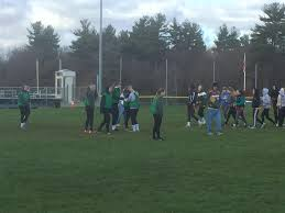 hhs press tbt photo essay powder puff football the senior offense makes a play and the defense regroups to make a plan