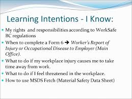 New And Young Worker District Orientation Checklist Worksafe Bc