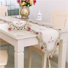 top grade fashiontable runner dining table cloth placemats cushion rustic lace embroidery cloth tablecloths 40x176 cm table runners for round tables table