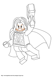 Small Picture thor Coloring Pages to Print AvengerLegoColoring ABC for
