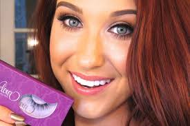 how to apply false lashes jaclyn hill