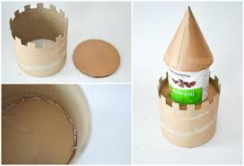 diy make a cardboard castle from recyclables main tower