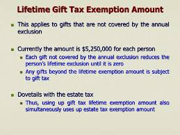 lifetime gift tax exemption amount