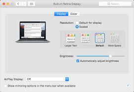 how to reduce screen size using a retina display apple support