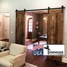 interior barn door hardware. Standard Double Sliding Barn Door Hardware Kit From The Store Interior