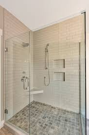 Fully Tiled Bathroom Walk In Master Shower With Fully Tiled Shower Walls And Clear