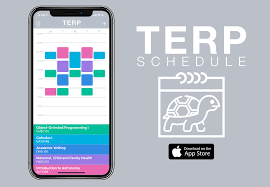 Terp Schedule Ios App Create And View Your Class Schedule