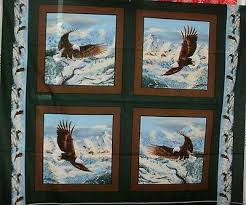 Fabrics collection on eBay! & 1 Yd Wildlife Pillow Panel Quilt Fabric Eagles Eagle Mountains Soaring High  Flaw Adamdwight.com