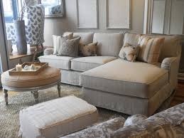 beach style living room furniture. subtle stripes on a slipcovered chaise sectional beachstylelivingroom beach style living room furniture