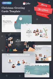 Free Christmas Website Templates Gifter Greeting Card Html Landing Page Template