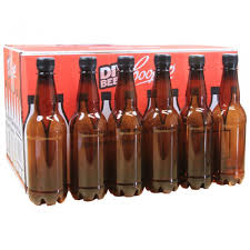 coopers 500ml amber pet plastic beer bottles with caps pack of 24 co uk kitchen home