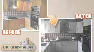 Respray Kitchen Cabinets Kitchen Respray To Shaded White Youtube