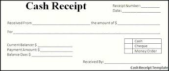 Check Receipt Template Word Cash Payment Free Templates