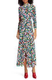 Rixo Lucy Floral Print Silk Dress Nordstrom