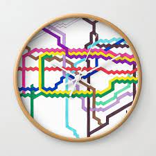 london underground wall clock by