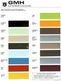 Vf Commodore Colours Chart 74 Eye Catching Holden Paint Chart