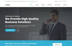 Business Portfolio Template Prolan Business And Consulting Html5 Template Graygrids