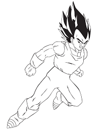 cartoon dragon ball z vegeta coloring page