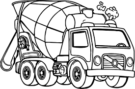 good cement truck coloring page good cement truck coloring on free print trucks coloring pages transportation