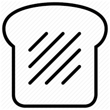 slice of bread outline. Perfect Slice Inside Slice Of Bread Outline