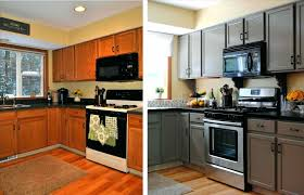 painted kitchen cabinets with black appliances. Awesome Painted Kitchen Cabinets Black Appliances Best Way To Paint Style Image Of Painting Trend And With A