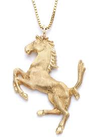 horse gold pendant
