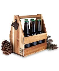 all gone wood beer caddy with bottle opener