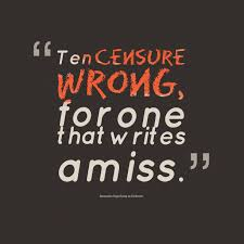 essay on criticism archives com ten censure wrong from alexander pope essay on criticism