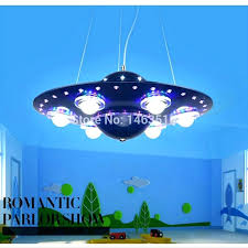 remote control chandelier spaceship ceiling light colorful room pendant lamp bedroom lights creative cartoon kids lighting