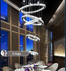 5 rings hot diamond ring led crystal chandelier light modern led chandelier chandeliers chandeliers with 715 0 piece on griffith s