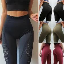 Practical Leggings <b>Hollow Out Seamless</b> Sports Gym <b>Womens</b> UK ...