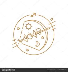 Vektor Luk šipka Nebo Střelec Znamení Zvěrokruhu Loga Tetování Nebo