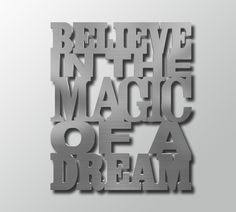 large metal wall art words