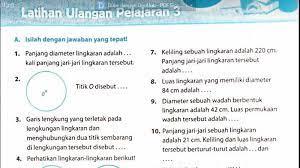 Maybe you would like to learn more about one of these? Soal Matematika Kelas 6 Kd 3 4 Dan Kd 3 5 Keliling Dan Luas Lingkaran Sekolahdasar Net