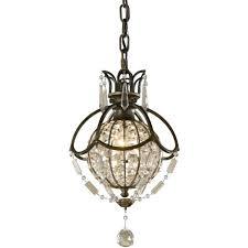 mini chandelier style bronze and crystal pendant light swirling glass globe mini chandelier style bronze and crystal pendant light swirling glass globe