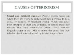 terrorism causes effects and solutions  6 causes of terrorism