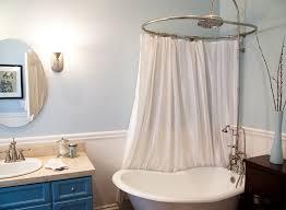 clawfoot tub shower curtain small rod