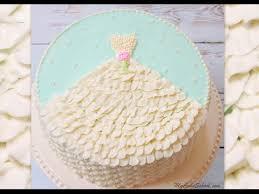 Wedding Shower Cake Design With Buttercream Dress Youtube