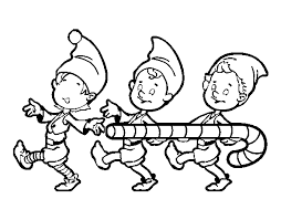 Christmas Elf Coloring Pages Printable Coloring Page For Kids