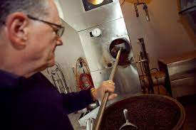 At graffeo, coffee beans are roasted in small batches in fluid bed roaster. Graffeo Coffee