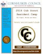 cub scout camping list cornhusker council bsa camping cub scouts cub camps