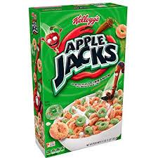kellogg s apple jacks breakfast cereal original low fat 17 oz box