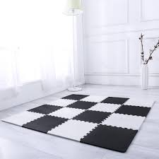 Amazon.com: Interlocking Floor Tiles, Superjare 16 Tiles (16 tiles = 16  sq.ft) EVA Foam Puzzle Mat with Borders - Black and White: Toys & Games